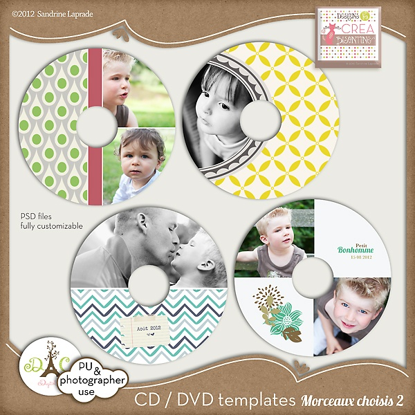very cute. esp the top two: Fully Customiz, Dvd Labels, Psd, Easili Changing, Digital Image, Graphics Design, Labels Templates, Photography Business, Beautiful Sets