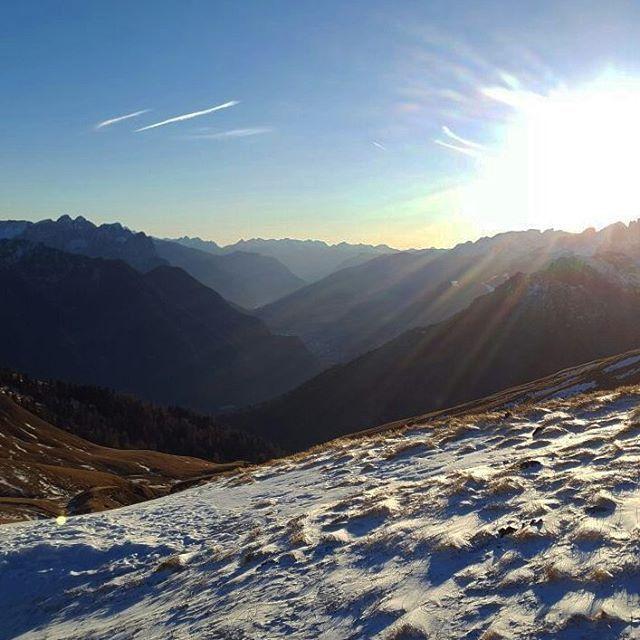 #mountains #snow #snowboarding #italy #alps #nature #sky #sun #landscape #landscapelovers #beautiful  #sunset #clouds #beauty #light #cloudporn #photooftheday #skylovers #dusk #weather #mothernature #amazing #instalike