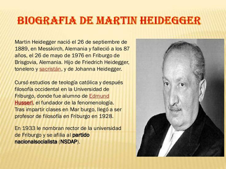 Martin heidegger en Educagratis, Curso de su Vida y Obra by Educagratis.org via slideshare