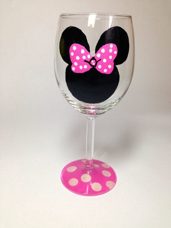 minnie mouse wine glass - Google Search