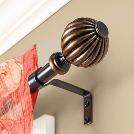 Beautify your window with the stylish and elegant Fluted Ball Curtain Rod. This smooth and shiny bronze curtain rod reflects the light giving a brighter look to your curtain fabrics.