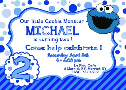62 best cookie monster party images on pinterest | cookie monster, Birthday invitations