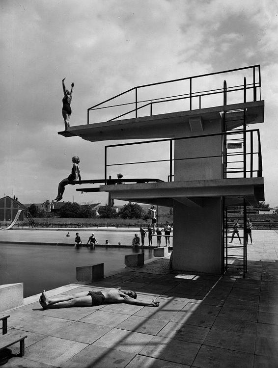 Public spa and swimming pools, Bohuslav Fuchs, Brno - Zabrdovice…