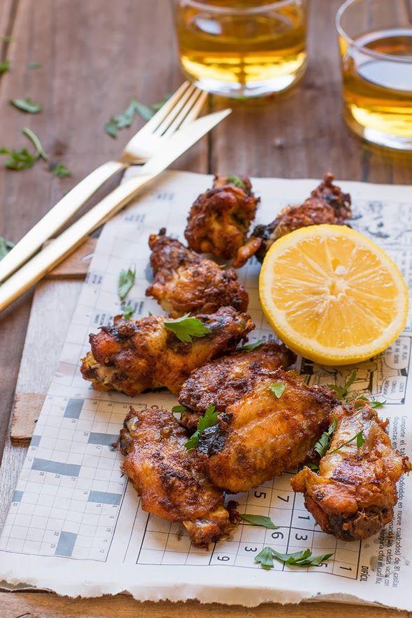 Alitas de pollo de corral con jengibre 12 alitas de pollo de corral 2 cucharaditas de pasta de jengibre fresco Sal 2 cucharadas de acei...