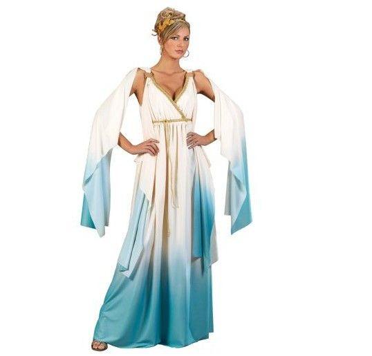 Griechische Göttin Damenkostüm Kleid Gewand