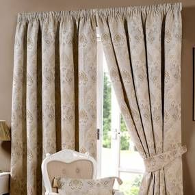 novello beige lined pencil pleat curtains curtain