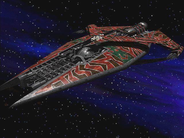 A Narn G'Quan class heavy cruiser