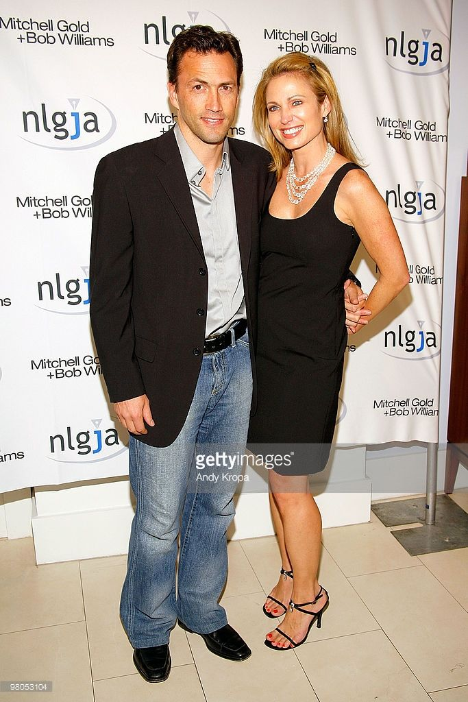 Amy Robach (R) and Andrew Shue attend the NLGJA's 15th Annual New York Benefit…
