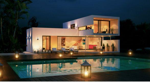 Plano de casa de 3 dormitorios con moderno dise o casas - Fotos de casas de planta baja ...