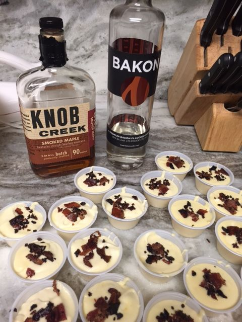 MAPLE BACON PUDDING SHOTS!  Sweet, Salty, and perfect for brunch!