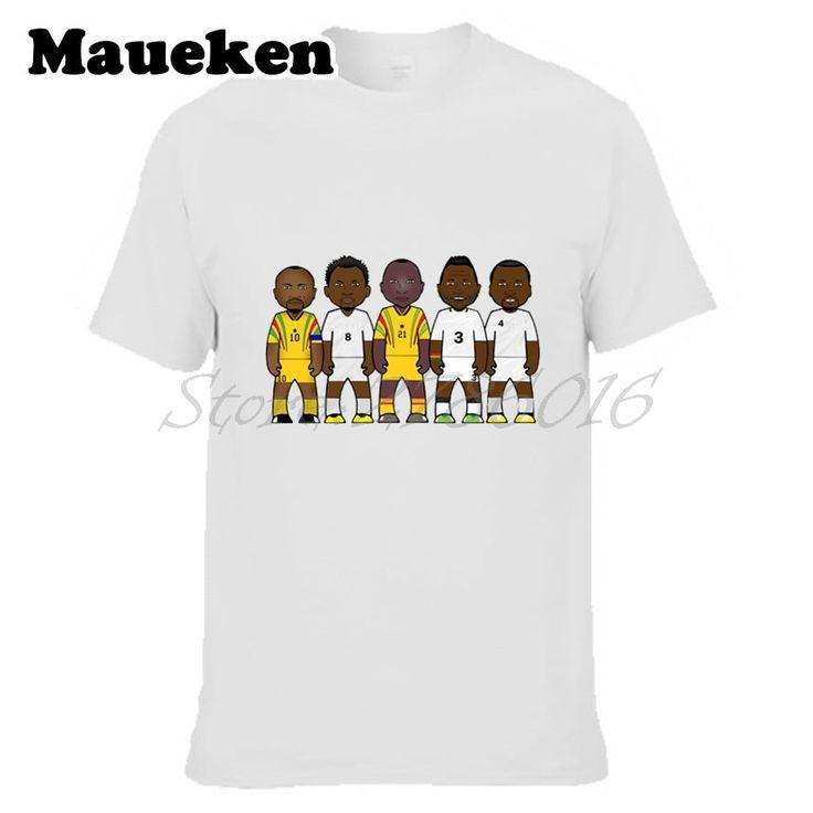 Men's Legends Ghana Abedi Pele Samuel Kuffour Tony Yeboah Asamoah Gyan Michael Essien T-shirt Clothes T Shirt tee W0523019 #Affiliate