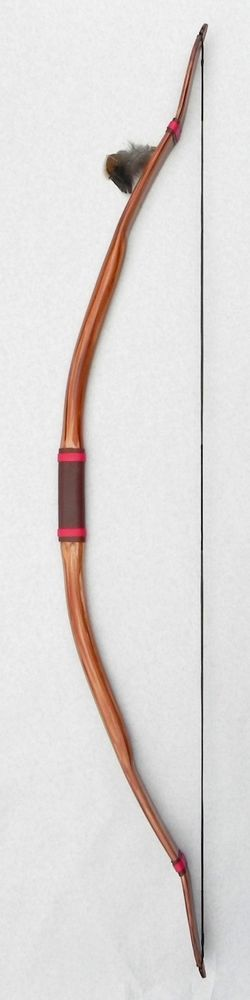 "Archery Re-curve Bow ""Native American Buckskin"" 60"" OAL, 28""Draw, Both Hands #BWBow"