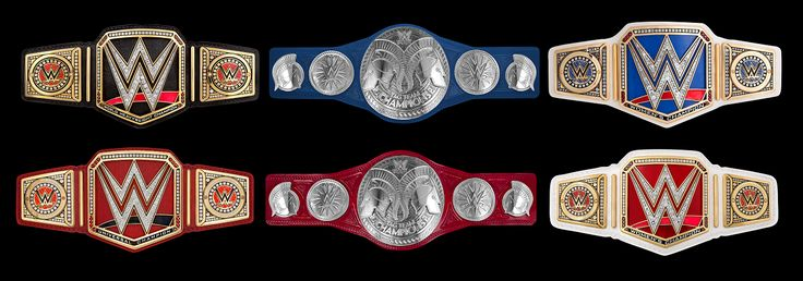 The new WWE Raw tag belts