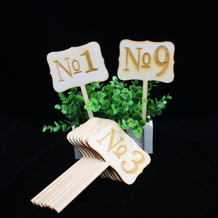 Cheap Números de mesa De madera de Época de la boda, números de mesa rústica decoración de la boda, 1 10 tarjetas de la tabla para la boda, Compro Calidad   directamente de los surtidores de China: de la boda número de la tabla, números de la tabla de madera, números de mesa rústica decoración de la boda, números de
