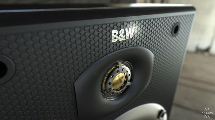 B&W DM602 S2 Speaker modeled in NX, rendered in KeyShot by Magnus Skogsfjord.