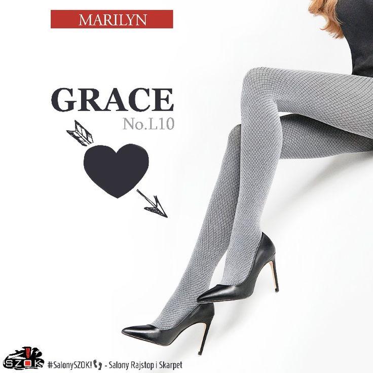 🔴 #Wzorzyste #rajstopy #Grace L10 60 DEN firmy #Marilyn które #wyśmienicie #komponują się z każdą #kreacją. Serdecznie Zapraszamy do Naszych #SalonySZOK!👣