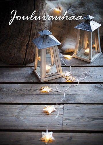 Joulurauhaa #Christmascards Anki :: Nro 7 Joulukortti Tunnelma - Joulu