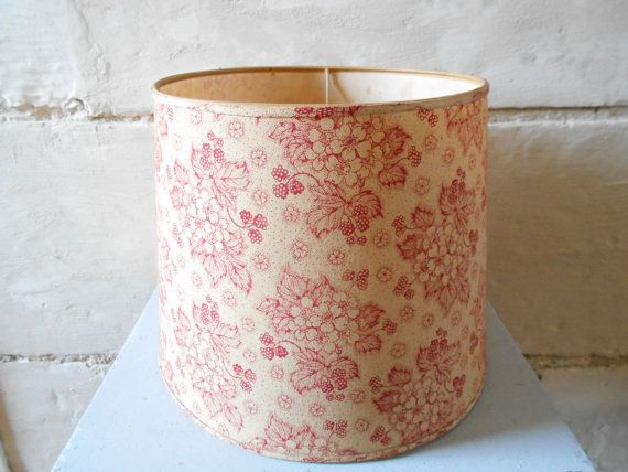 Charming 50's French lamp shade wild berries and by Birdycoconut
