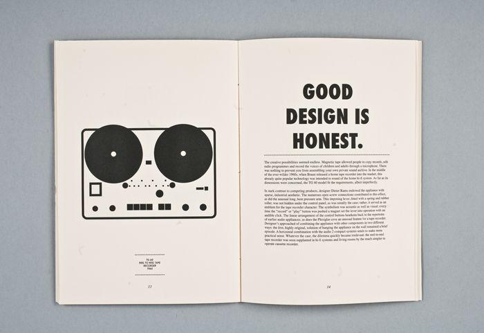 Good design is honest