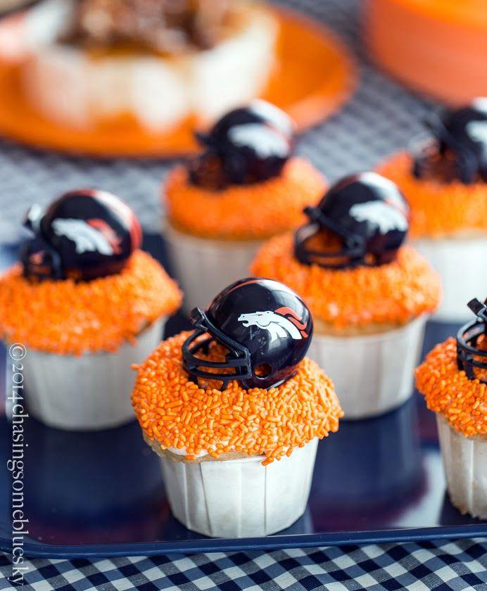 Denver Broncos Cupcakes