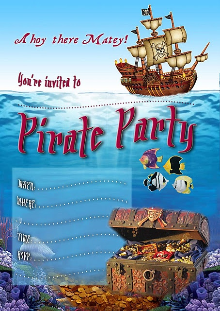 240 best images about Pirate Birthday Printables – Pirate Party Invites