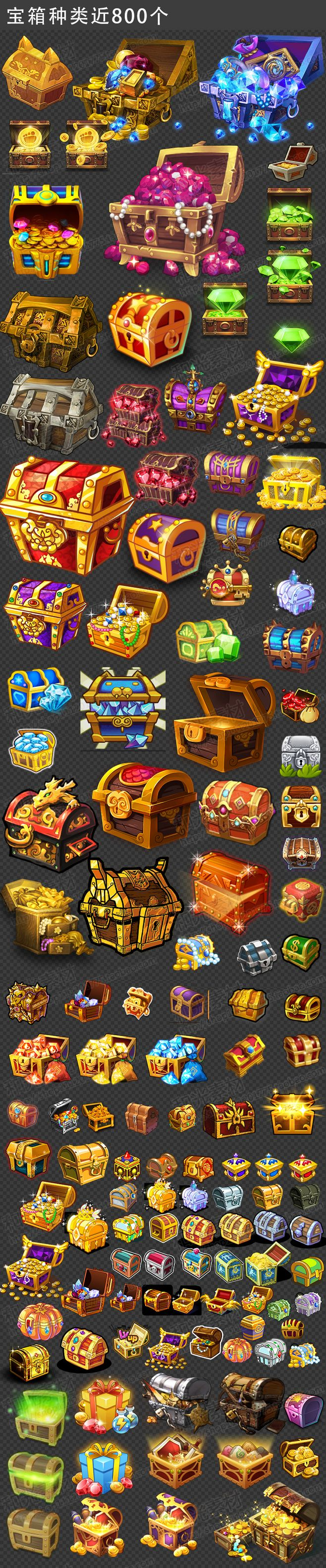 i will keep these art styles in min when creating my own chests within my game so i can have a variation of what can be found within my game