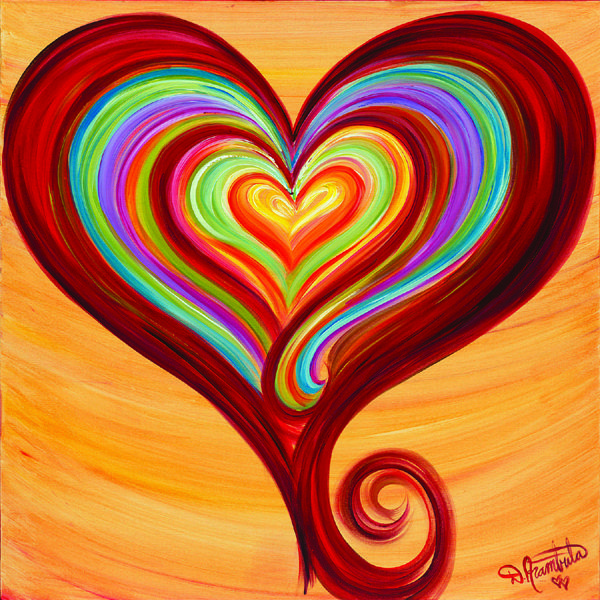 {inspiration} Painting From The Heart of Compassion by Debbie Marie Arambula