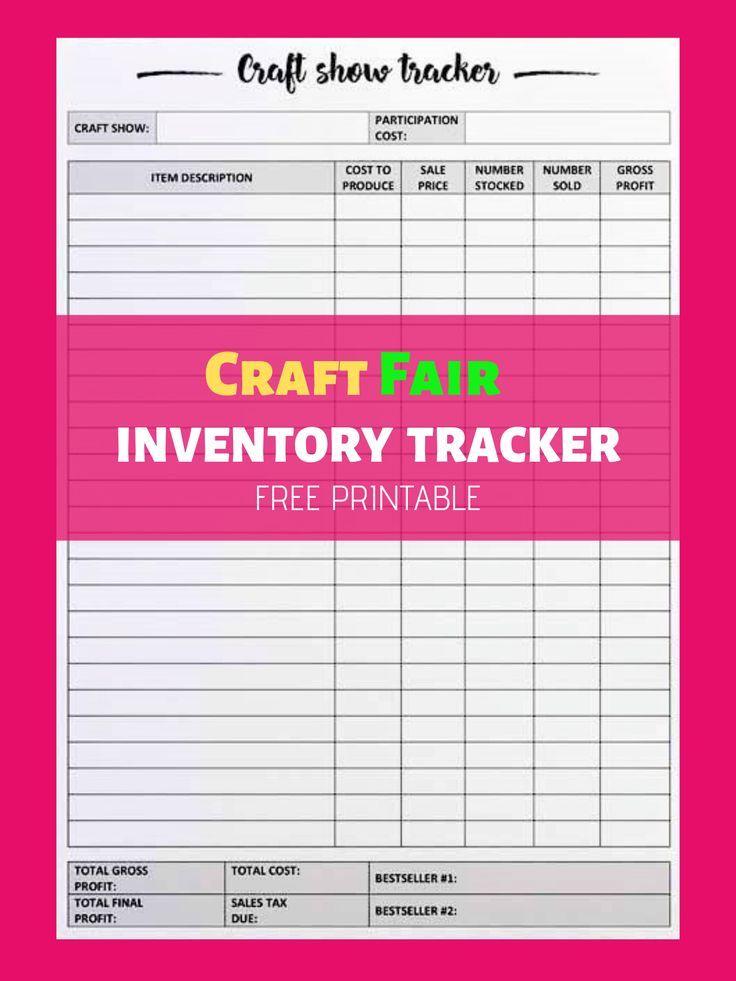 craft fair inventory tracker free printable diybeautybase com