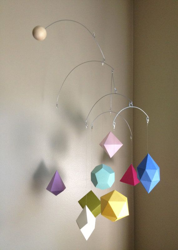 Geometric Paper Mobile Candy color scheme by HelloBonjourDecor, $48.00