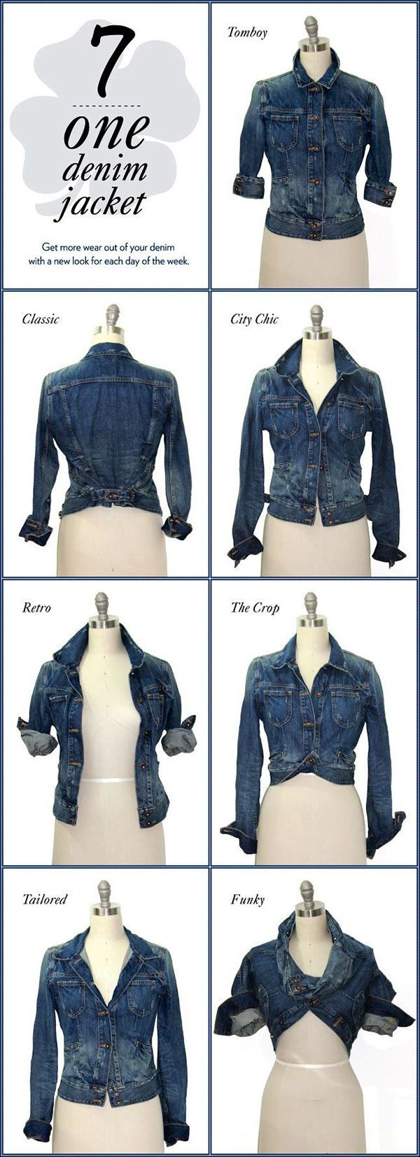 just by changing the way the jacket looks slightly, you can change the vibe of your entire outfit