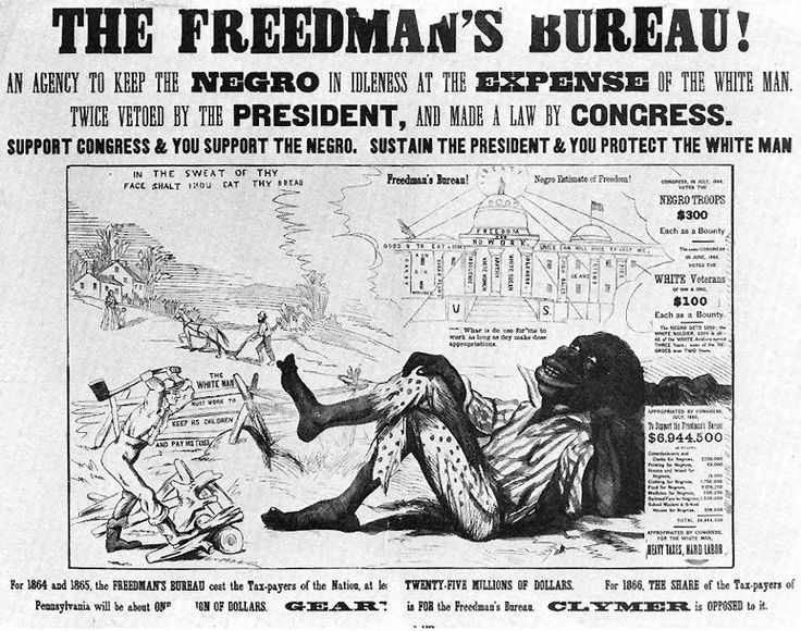 Political cartoon during Recon- struction