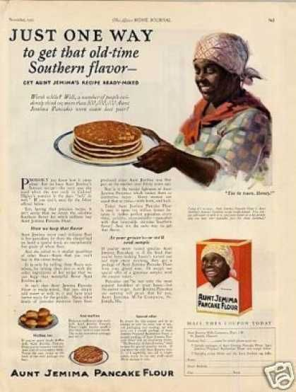 "Aunt Jemima Pancakes Ad ""Just One Way... (1923)"