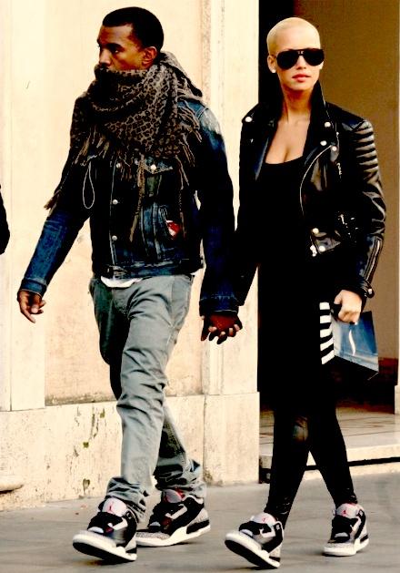 Kanye and Amber Rose...
