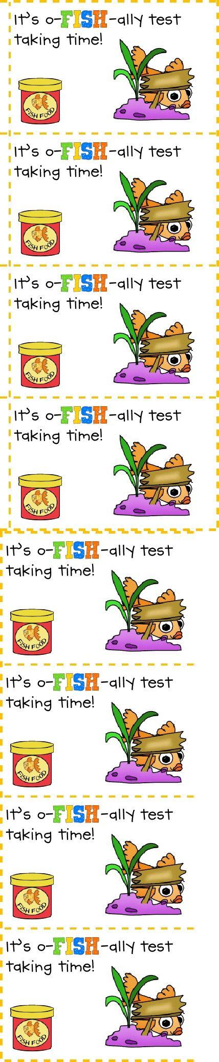 Testing Treats- copy & paste