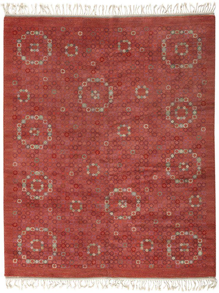 Vintage Rugs: Vintage Rug Swedish Flat weave for Scandinavian scandi interior decor, Scandinavian living room Vintage Swedish Rug by Märta Måås-Fjetterström