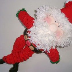 Como fazer um Papai Noel de fuxicos: dica da Manu