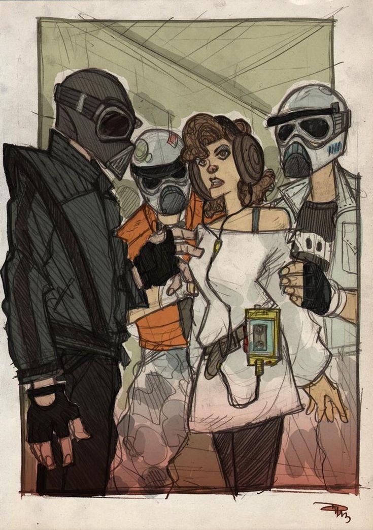 Denis Medry - STAR WARS 80s High School Vader Leia Troops