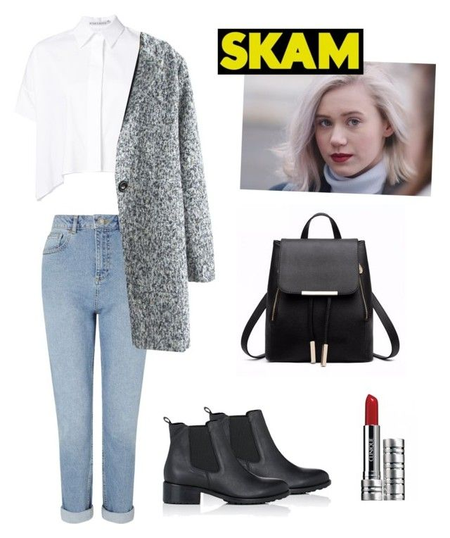"""""""Noora Saetre Inspired outfit"""" by curlycupcakehaz ❤ liked on Polyvore featuring Miss Selfridge, Barneys New York, Alice + Olivia, Clinique, skam and noorasaetre"""