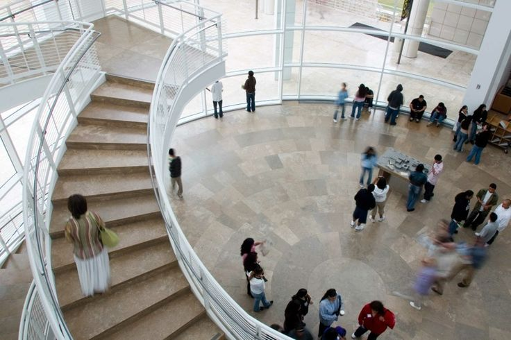 View of the Museum Entrance Hall at the Getty Center