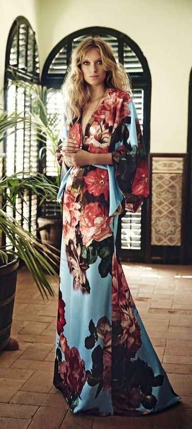 perfect floral robe for the summer