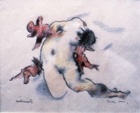 """""""Maternity"""", 1976 Dorothea Tanning Color crayon and graphite on paper"""
