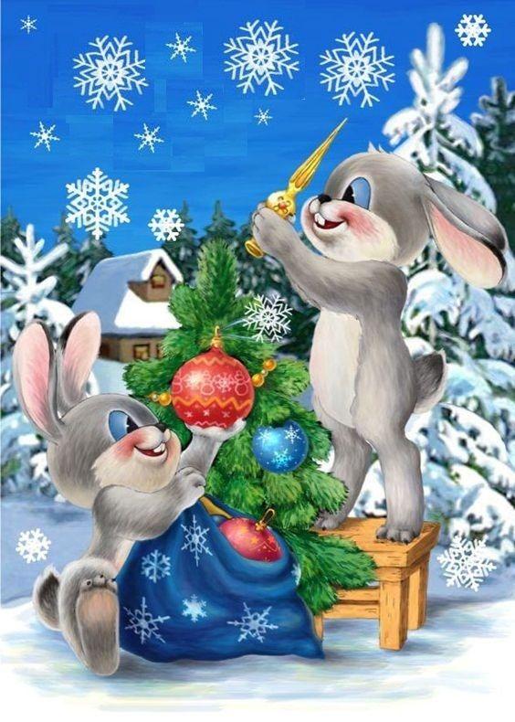Новогодние картинки открытки поздравительные открытки