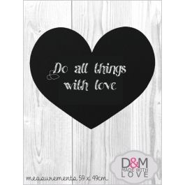 Heart shaped chalkboard - wall | Buy Online in South Africa | MzansiStore.com
