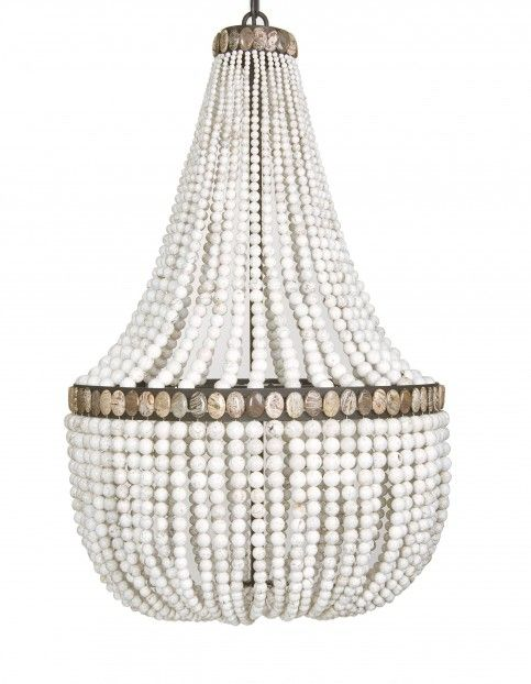 White Turquoise Empire Chandelier | MarjorieMarjorie I must have this!