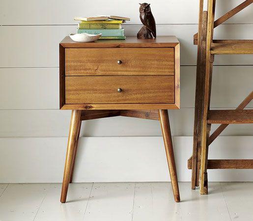 Acorn Mid-Century Nightstand from @westelm. #design #interiors #interiordesign #furniture #nightstand #midcentury