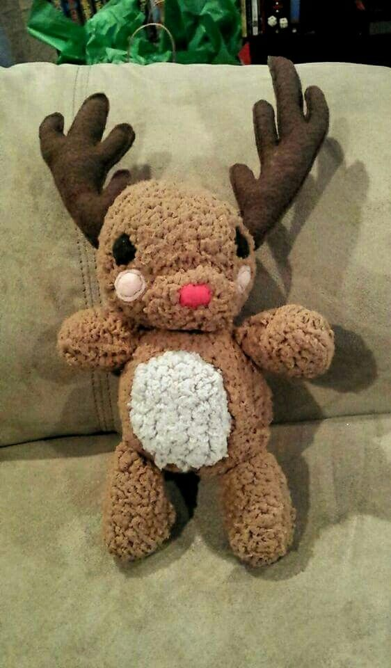 Rudolph stuffie I made for my son's first Christmas :D