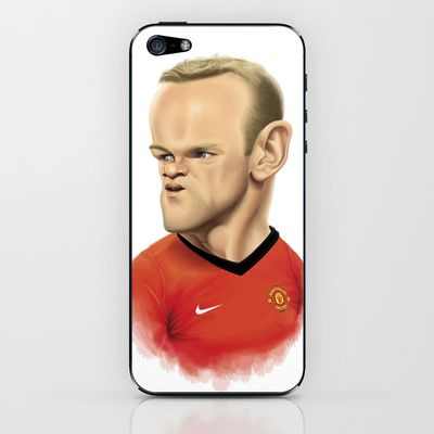 #Rooney - #ManchesterUnited iPhone & iPod Skin by Sant Toscanni - $15.00