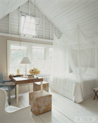 Beautiful Bedroom including the desk area & oh i love that ceiling
