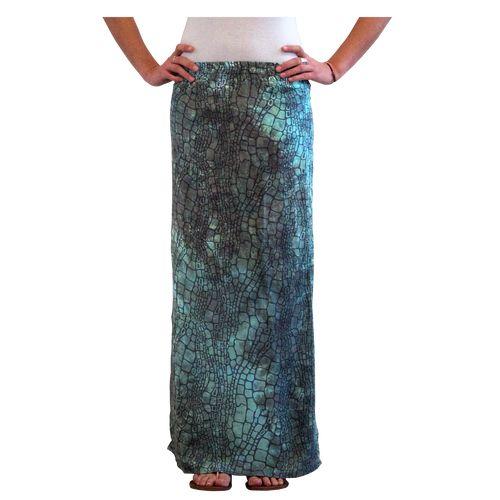 $18.50 - Sorayane - Green Croco pattern Skirt