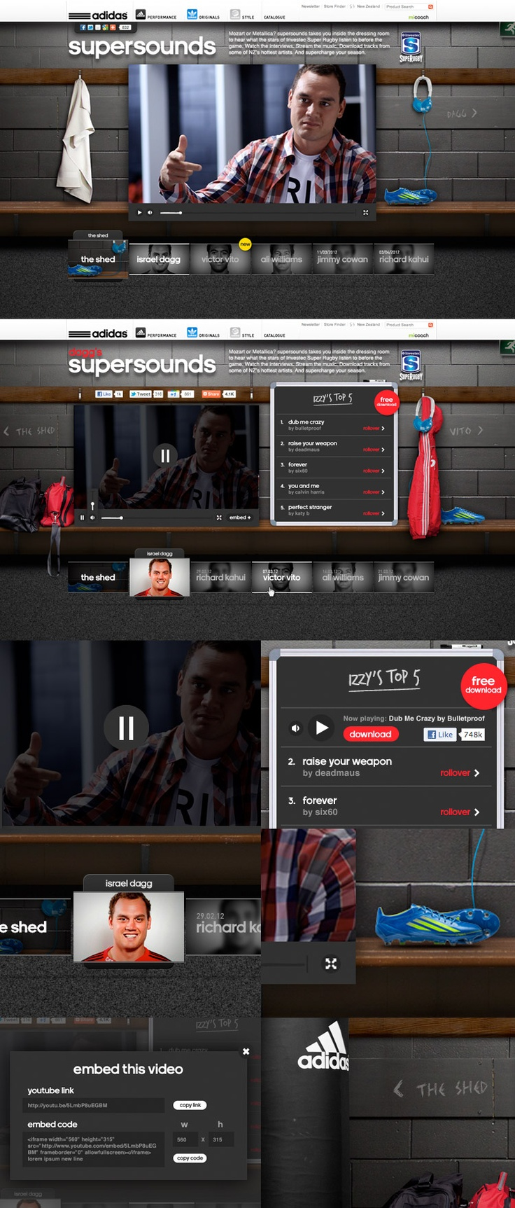 adidas Supersounds campaign site - by griffinabox